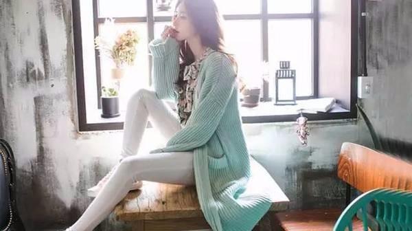 早春想显高瘦,就穿长款针织开衫!
